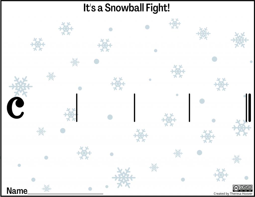 It's a snowball fight!